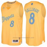 Maglia Natale 2016 Denver Nuggets Danilo Gallinari #8 Or