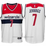 Maglia Washington Wizards Brandon Jennings #7 Bianco
