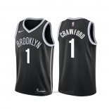 Maglia Brooklyn Nets Jamal Crawford #1 Icon Nero