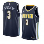 Maglia Denver Nuggets Isaiah Thomas-19 #3 Icon 2018 Blu