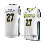 Maglia Denver Nuggets Jamal Murray #27 Association 2017-18 Bianco