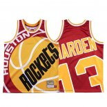 Maglia Houston Rockets James Harden #13 Mitchell & Ness Big Face Rosso