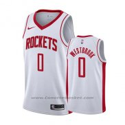 Maglia Houston Rockets Russell Westbrook #0 Association 2019-20 Bianco