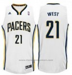 Maglia Indiana Pacers David West #21 Bianco