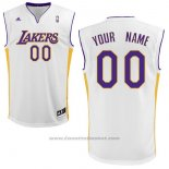 Maglia Los Angeles Lakers Adidas Personalizzate Bianco