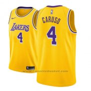 Maglia Los Angeles Lakers Alex Caruso #4 Icon 2018-19 Or