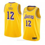 Maglia Los Angeles Lakers Channing Frye #12 Icon 2018-19 Giallo