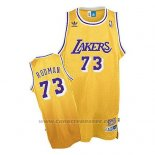 Maglia Los Angeles Lakers Dennis Rodman Retro Giallo