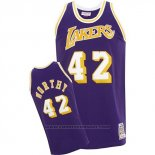 Maglia Los Angeles Lakers James Worthy #42 Retro Viola