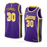 Maglia Los Angeles Lakers Jeffrey Carroll #30 Statement 2018-19 Viola