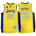 Maglia Los Angeles Lakers Kobe Bryant #24 2009-10 Finals Giallo