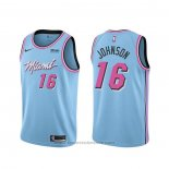 Maglia Miami Heat James Johnson #16 Citta 2019-20 Blu