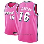 Maglia Miami Heat James Johnson #16 Earned 2018-19 Rosa