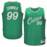 Maglia Natale 2015 Boston Celtics Jae Crowder #99 Verde