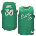 Maglia Natale 2015 Boston Celtics Marcus Smart #36 Verde