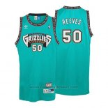 Maglia Vancouver Grizzlies Bryant Reeves #50 Historic Retro Verde