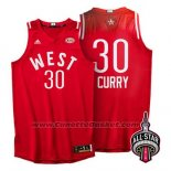 Maglia All Star 2016 Stephen Curry #30 Rosso