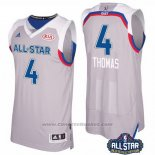 Maglia All Star 2017 Boston Celtics Isaiah Thomas #4 Grigio
