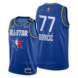 Maglia All Star 2020 Dallas Mavericks Luka Doncic #77 Blu