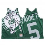 Maglia Boston Celtics Kevin Garnett #5 Mitchell & Ness Big Face Verde