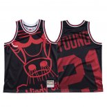 Maglia Chicago Bulls Thaddeus Young #21 Mitchell & Ness Big Face Nero