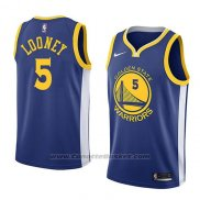 Maglia Golden State Warriors Kevon Looney #5 Icon 2018 Blu