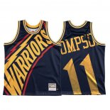Maglia Golden State Warriors Klay Thompson #11 Mitchell & Ness Big Face Blu