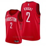 Maglia Houston Rockets Brandon Knight #2 Earned Rosso