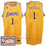 Maglia Los Angeles Lakers D'Angelo Russell #1 Retro Giallo