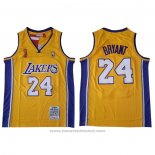 Maglia Los Angeles Lakers Kobe Bryant #24 2009 Finals Giallo