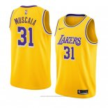 Maglia Los Angeles Lakers Mike Muscala #31 Icon 2018-19 Giallo