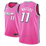 Maglia Miami Heat Dion Waiters #11 Earned 2018-19 Rosa
