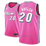 Maglia Miami Heat Justise Winslow #20 Earned 2018-19 Rosa