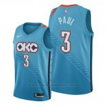 Maglia Oklahoma City Thunder Chris Paul #3 Citta Blu