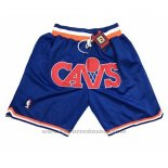 Pantaloncini Cleveland Cavaliers Just Don Blu