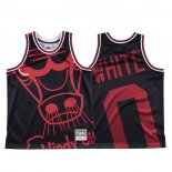 Maglia Chicago Bulls Coby White #0 Mitchell & Ness Big Face Nero