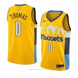 Maglia Denver Nuggets Isaiah Thomas #0 Statement 2018 Giallo