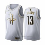 Maglia Golden Edition Houston Rockets James Harden #13 2019-20 Bianco