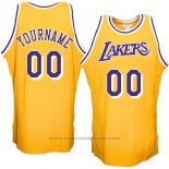 Maglia Hardwood Los Angeles Lakers Personalizzate Giallo