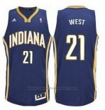 Maglia Indiana Pacers David West #21 Blu