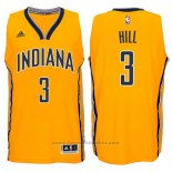 Maglia Indiana Pacers George Hill #3 Giallo