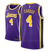 Maglia Los Angeles Lakers Alex Caruso #4 Statement 2018-19 Viola