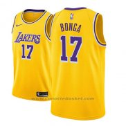 Maglia Los Angeles Lakers Isaac Bonga #17 Icon 2018-19 Or