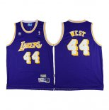 Maglia Los Angeles Lakers Jerry West #44 Retro Viola