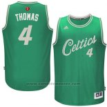 Maglia Natale 2015 Boston Celtics Isaiah Thomas #4 Verde