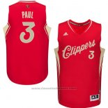 Maglia Natale 2015 Los Angeles Clippers Chris Paul #3 Rosso