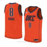 Maglia Oklahoma City Thunder Alex Abrines #8 Earned 2018-19 Arancione