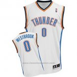 Maglia Oklahoma City Thunder Russell Westbrook #0 Bianco