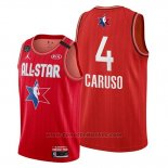 Maglia All Star 2020 Los Angeles Lakers Alex Caruso #4 Rosso