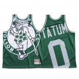 Maglia Boston Celtics Jayson Tatum #0 Mitchell & Ness Big Face Verde